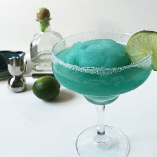 Frozen Blue Margaritas — a Carolina Panthers cocktail perfect for game days at home! // Feast + West (@feastandwest)