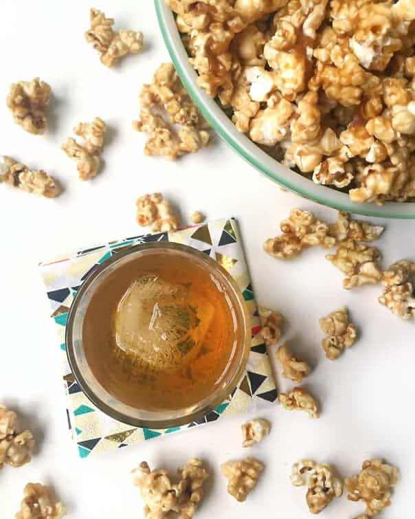 Make Bourbon Caramel Popcorn for your next movie night. It's smoky and sweet, and easy to make! (via feastandwest.com)