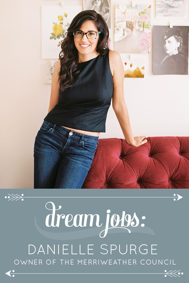 Dream Jobs: A Q&A with Danielle Spurge-Swavely, embroidery artist and business mentor behind Merriweather Council. // Feast + West