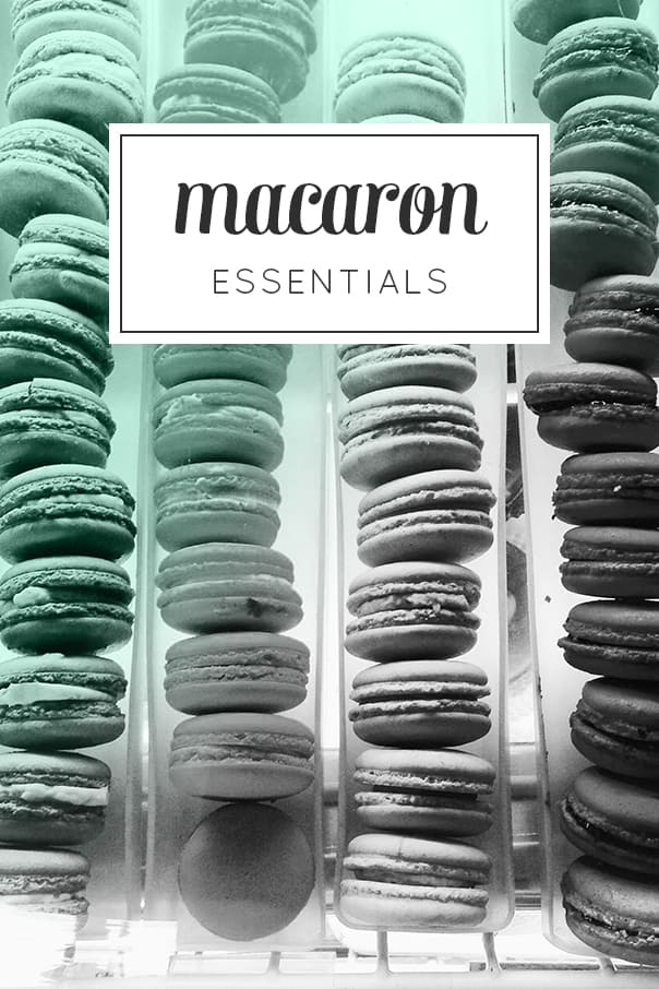 Macaron Essentials — everything you need to start making beautiful macarons (not macaroons!) at home. The loveliest party treat for a baby shower or a tea party! (via feastandwest.com)