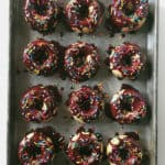 Baked Birthday Cake Donuts + KitchenAid Stand Mixer Giveaway