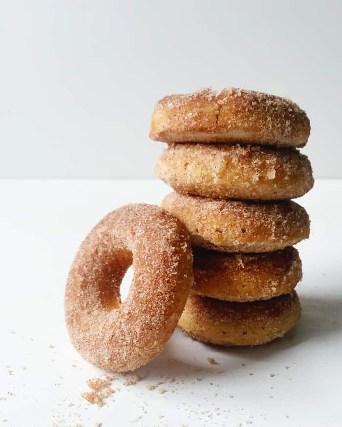 Baked Cinnamon Sugar Donuts — the loveliest breakfast treat. (feastandwest.com)