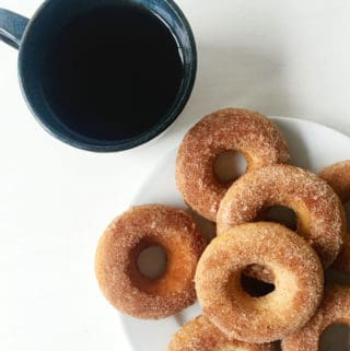 Baked Cinnamon Sugar Donuts — the loveliest breakfast treat. (feastandwest.com)
