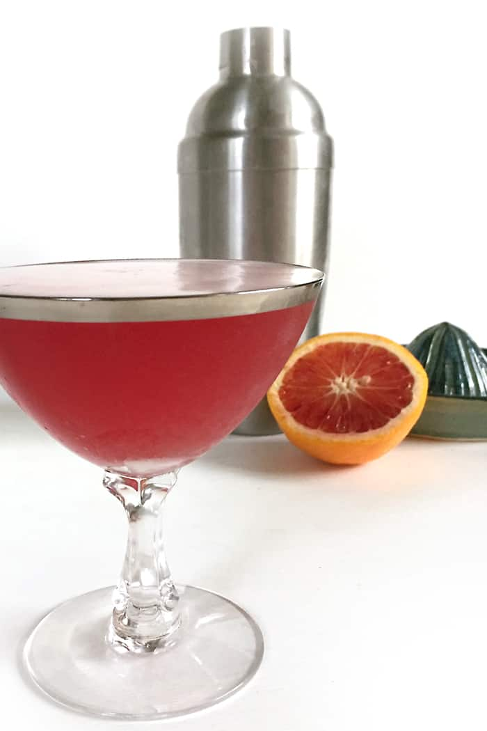 Blood Orange Whiskey Sour — a tart twist on the classic. (via feastandwest.com)