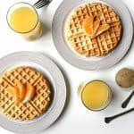 Orange Waffles and Vanilla Bean Butter make for an impressive breakfast menu! (via feastandwest.com)
