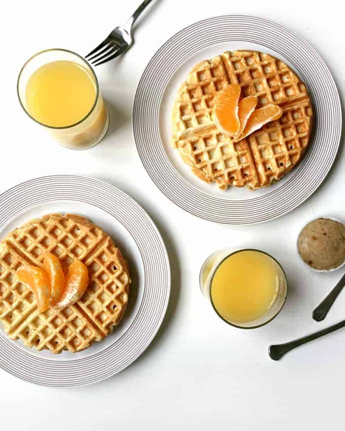 Orange Waffles with Vanilla Bean Butter make for a glorious weekend ...