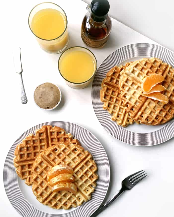 Orange Waffles with Vanilla Bean Butter » Feast + West