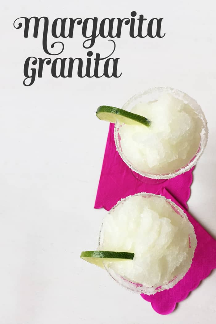 Margarita Granita is a frozen tequila lime dessert for Cinco de Mayo! (via feastandwest.com)