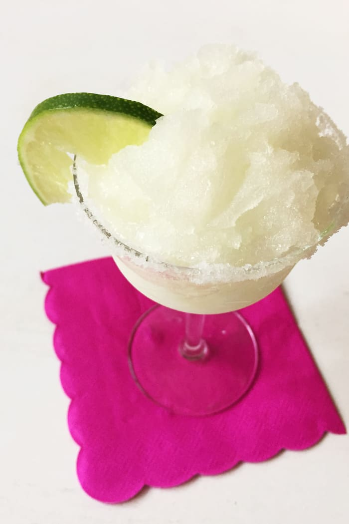 Margarita Granita is a frozen tequila lime dessert for Cinco de Mayo ...