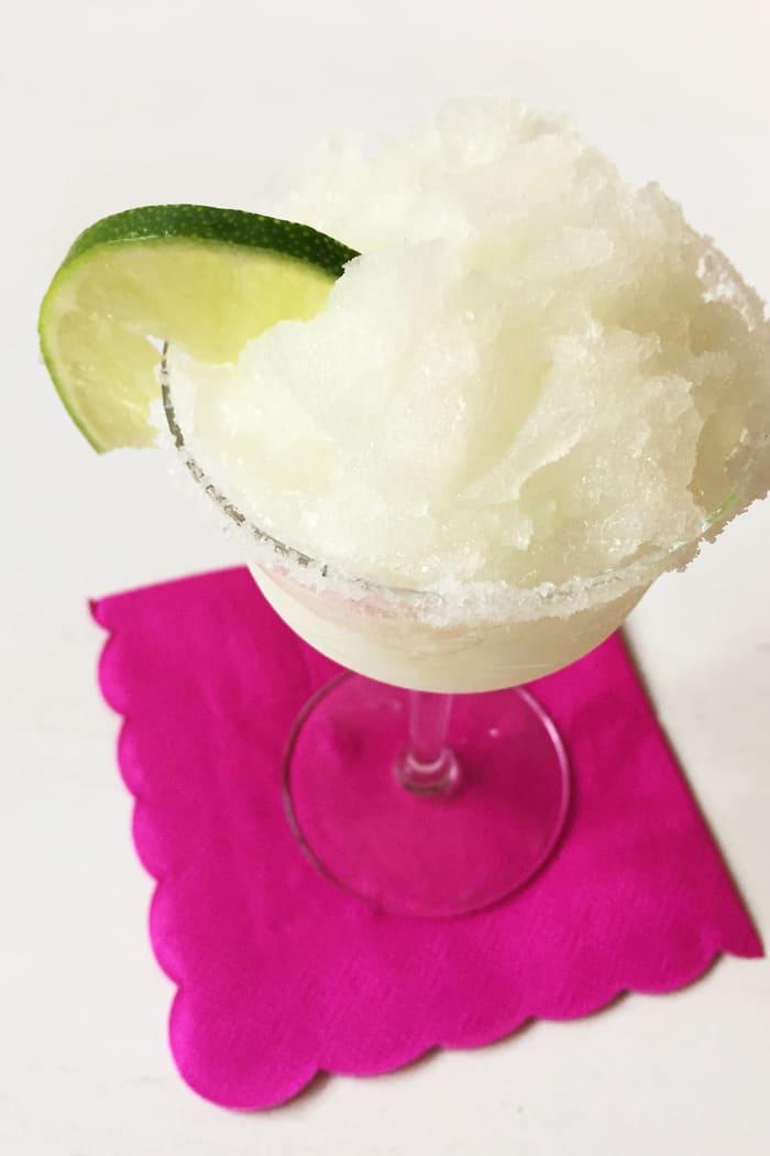 Margarita Granita is a frozen tequila lime dessert for Cinco de Mayo! (via feastandwest.com)