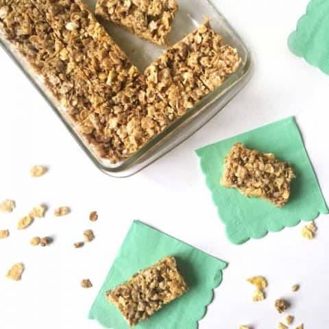 Make these No-Bake Salted Honey Cereal Bars for a breakast-themed dessert or snack! (via feastandwest.com)