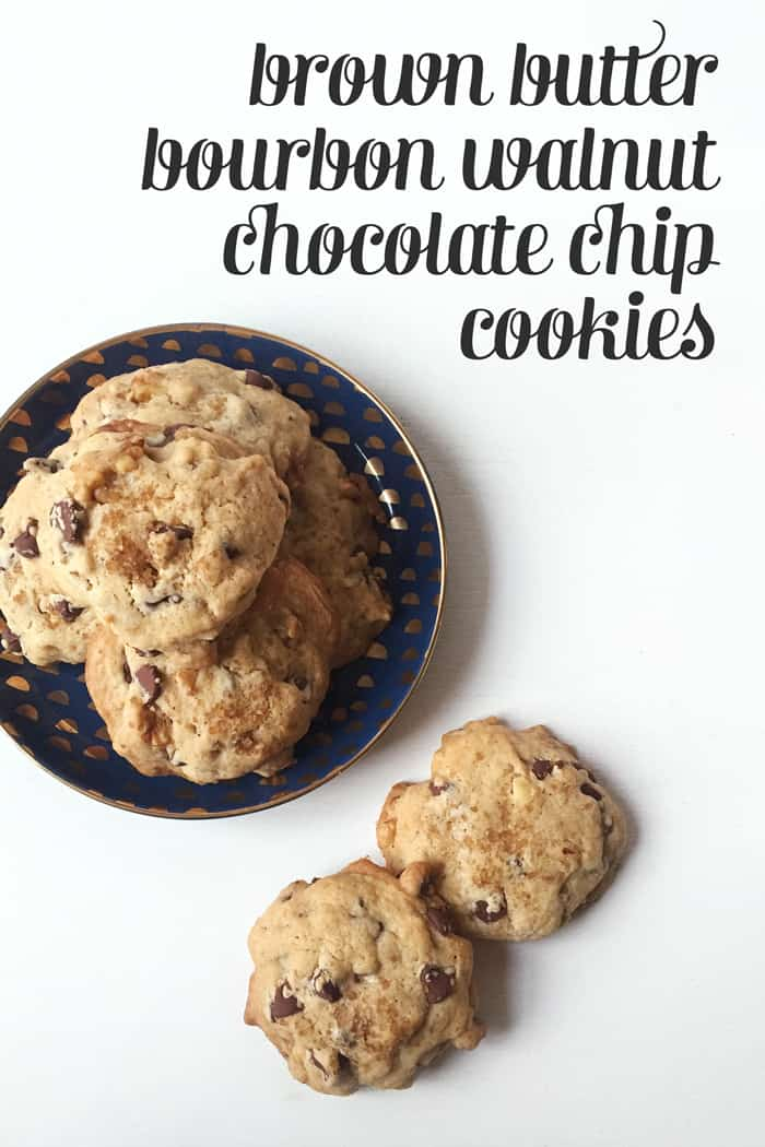 Celebrate the Kentucky Derby with Brown Butter Bourbon Walnut Chocolate Chip Cookies! (via feastandwest.com)
