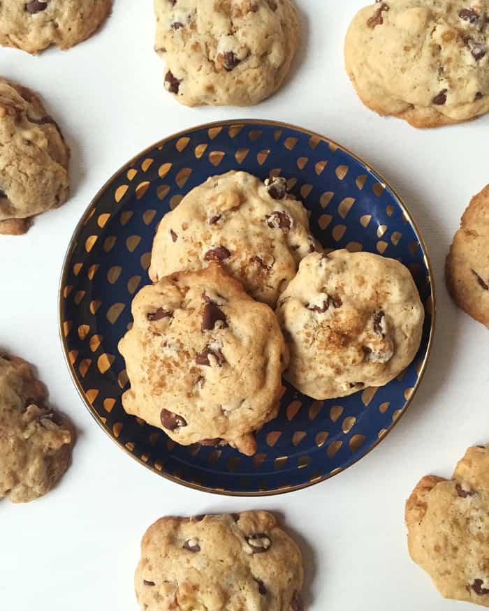 Brown Butter Bourbon Walnut Chocolate Chip Cookies » Feast
