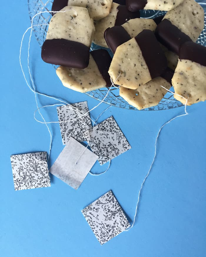 Earl Grey Shortbread Cookies — perfect for a grown-up tea party! (via feastandwest.com)