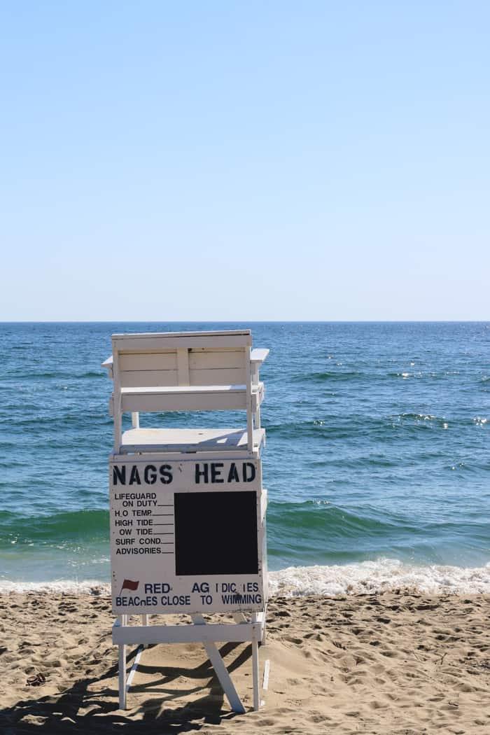 Nags Head Beach Outer Banks NC —Take a road trip to the Outer Banks of North Carolina!