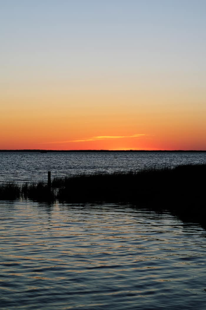 Sunset in Duck, NC —Take a road trip to the Outer Banks of North Carolina!