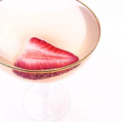 Pretty in pink. Savor the end of spring with a Strawberry Rhubarb Champagne Cocktail! (via feastandwest.com)