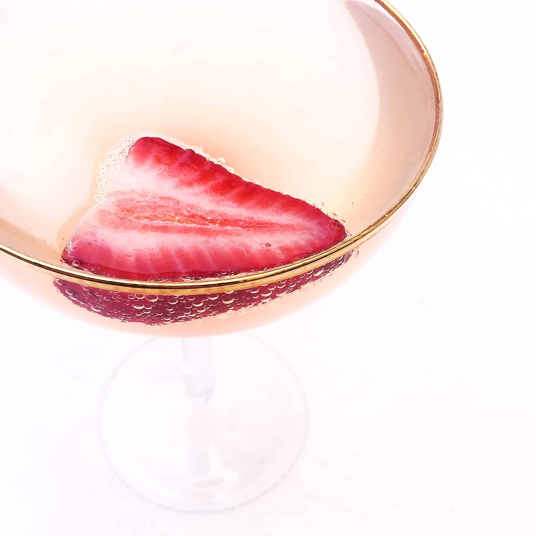 Strawberry Rhubarb Champagne Cocktail Sq