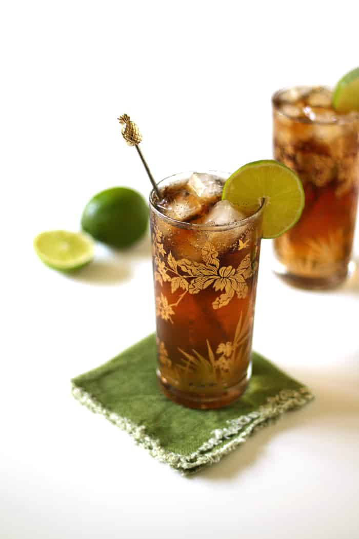 Cuba Libre with Homemade Cola Syrup — a complex take on a classic. (via feastandwest.com)