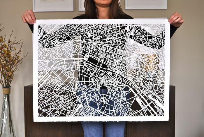 Dream Jobs: A Karen O'Leary of Studio KMO, paper cutting map artist in Charlotte, N.C. (via feastandwest.com)