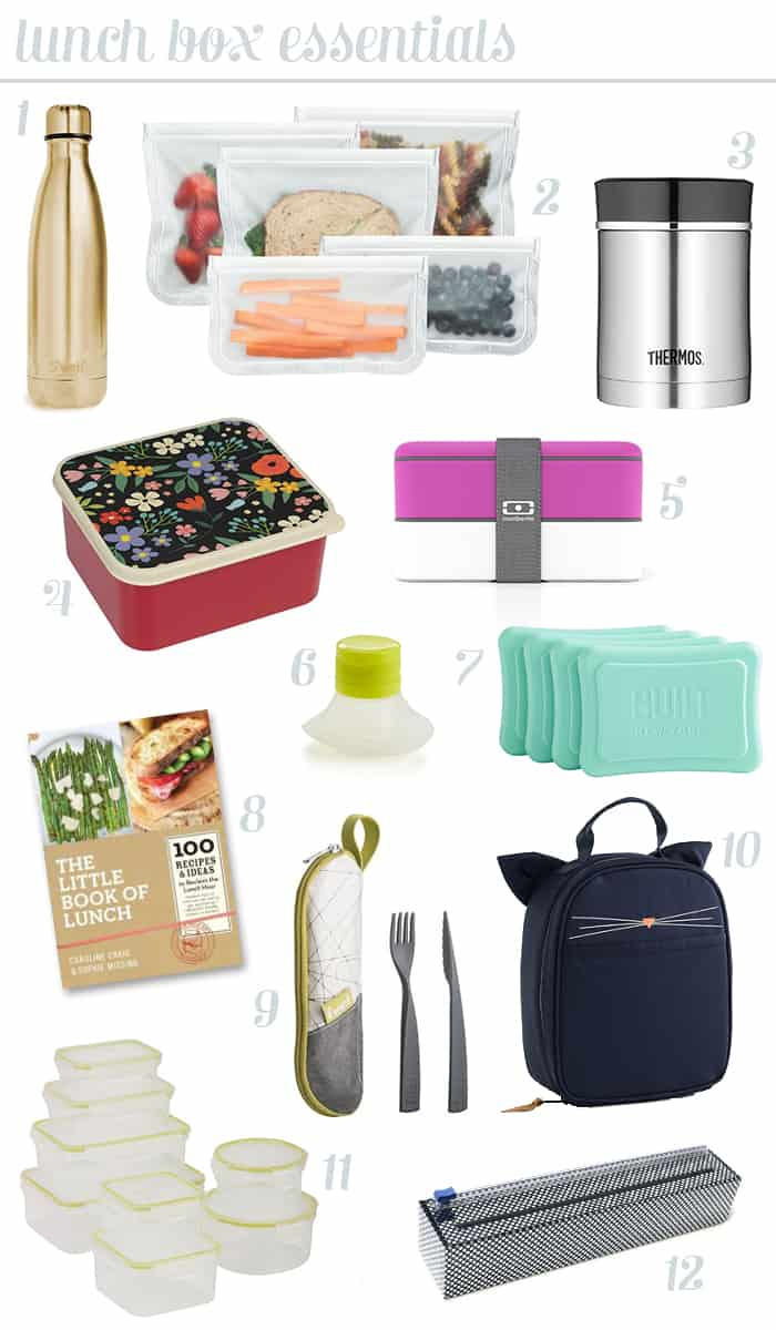 Lunch Box Essentials — Everything you need to make an amazing, indulgent packed lunch for school or work. (via feastandwest.com)