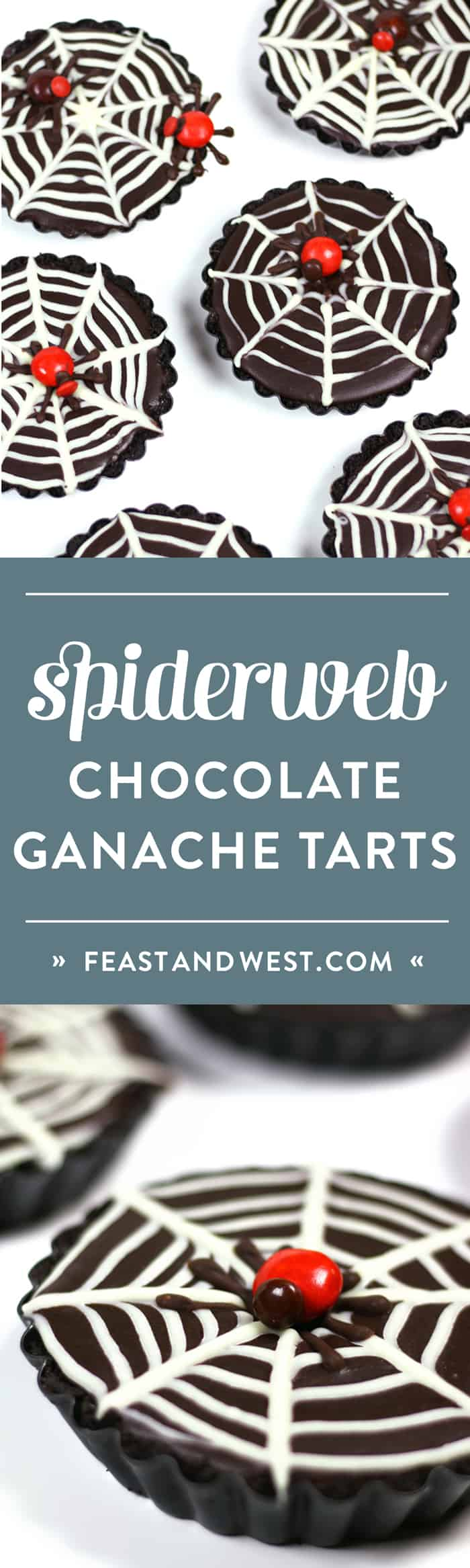 These No-Bake Mini Chocolate Ganache Spiderweb Tarts are just the right mixture of spooky, innocent and elegant. They are the perfect dessert for a black-and-white Halloween party or dinner. (via feastandwest.com)