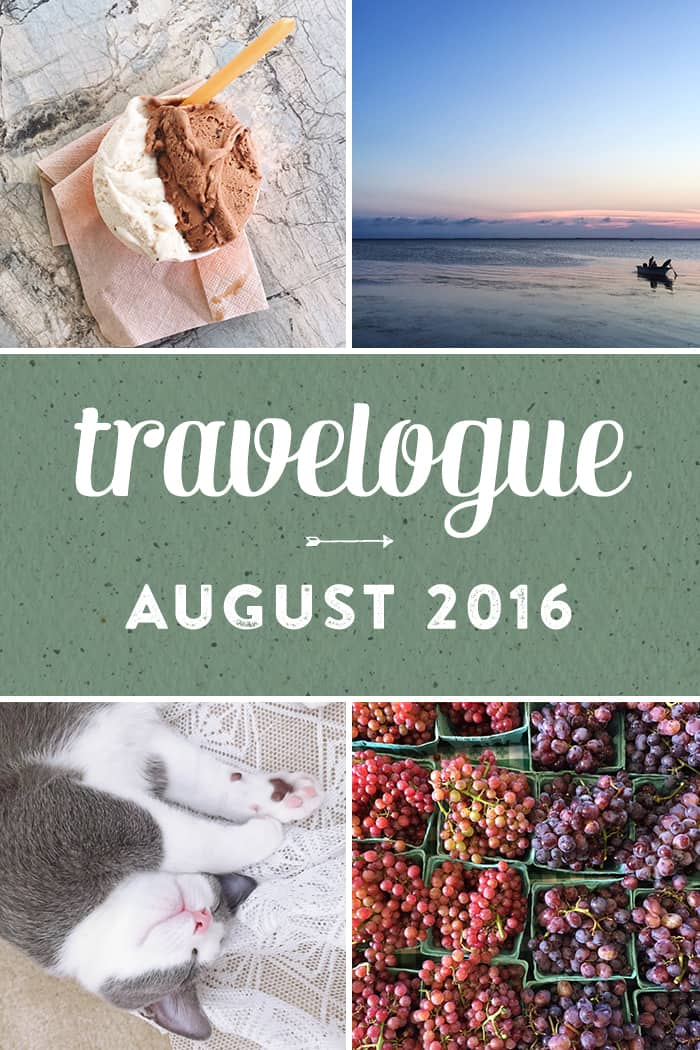 A new monthly series, the August Travelogue from Feast + West. including explorations around Charlotte, a trip to the Outer Banks, kittens and cocktails. Stop by the blog today to see the full list of things I did, ate, drank and saw in August 2016, plus a few things on my wishlist. (via feastandwest.com)