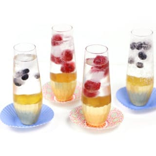 Sparkling Balsamic Mocktails with Berry Ice Cubes