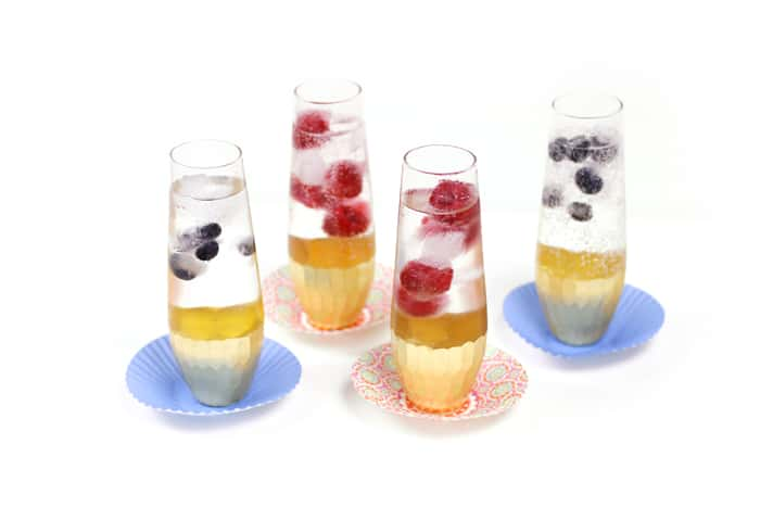 Sparkling Balsamic Mocktails With Berry Ice Cubes Feast West