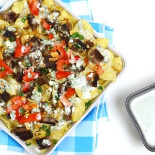Blackened Steak + Blue Cheese Nachos