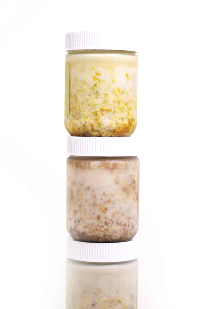 Each jar of Pantry Doctor Overnight Oats comes packed with oats, seeds, spices and other mix-ins. All you do is add your choice of milk, sweetener and one of these 80 oatmeal toppings, then let the jar sit until morning. Then, shake it up and eat! (via feastandwest.com)
