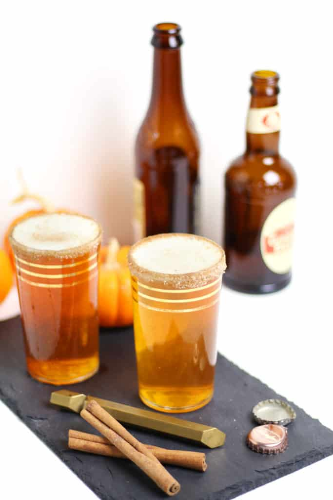 A Ginger Pumpkin Beer Shandy is a fall cocktail that's reminiscent of pumpkin pie. Sip on this lovely hybrid of sweet, non-alcoholic ginger beer and a spicy, tart pumpkin ale for Thanksgiving and other autumn get-togethers. (via feastandwest.com)