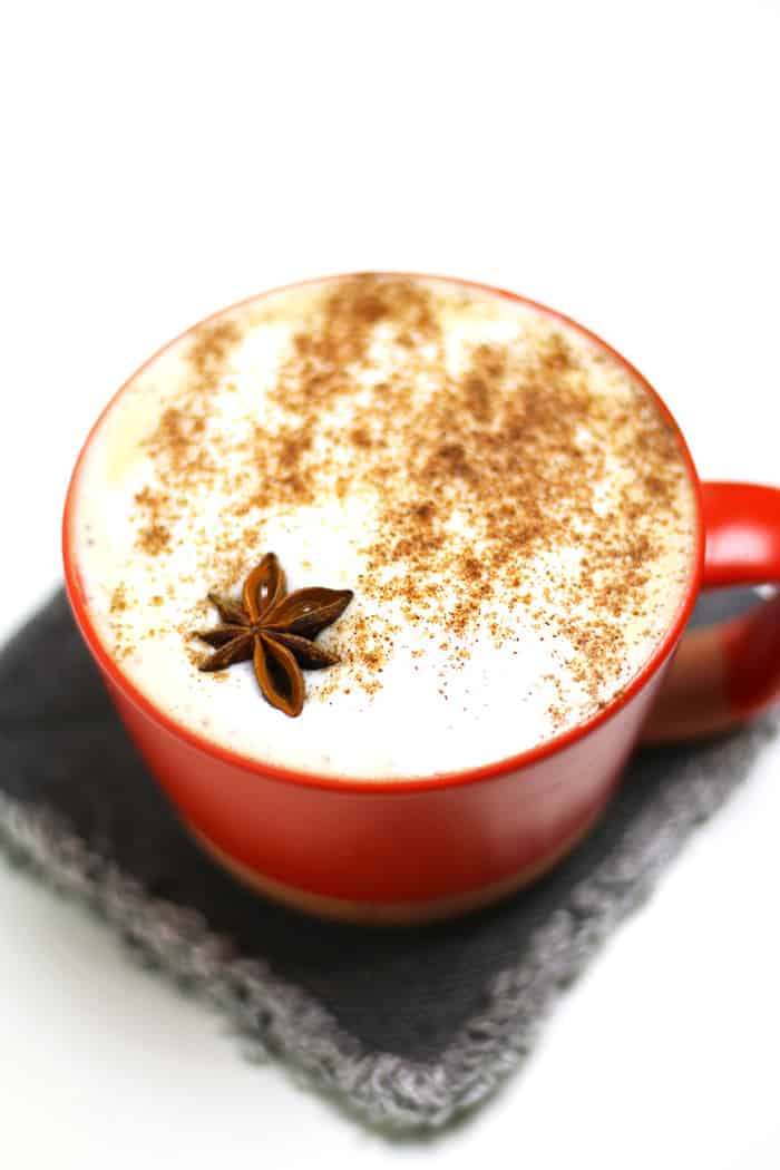 A warm and inviting Autumn Spice Cafe Latte, made without pumpkin. Cinnamon, star anise, lemon, cloves and peppercorns flavor an easy simple syrup that you can use in coffee and espresso drinks. (via feastandwest.com)