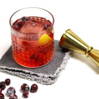 Sparkling Cranberry Vanilla Old-Fashioned