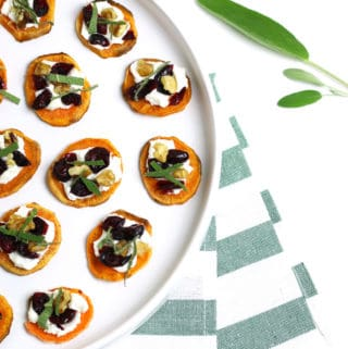 Holiday Sweet Potato Toast Bites