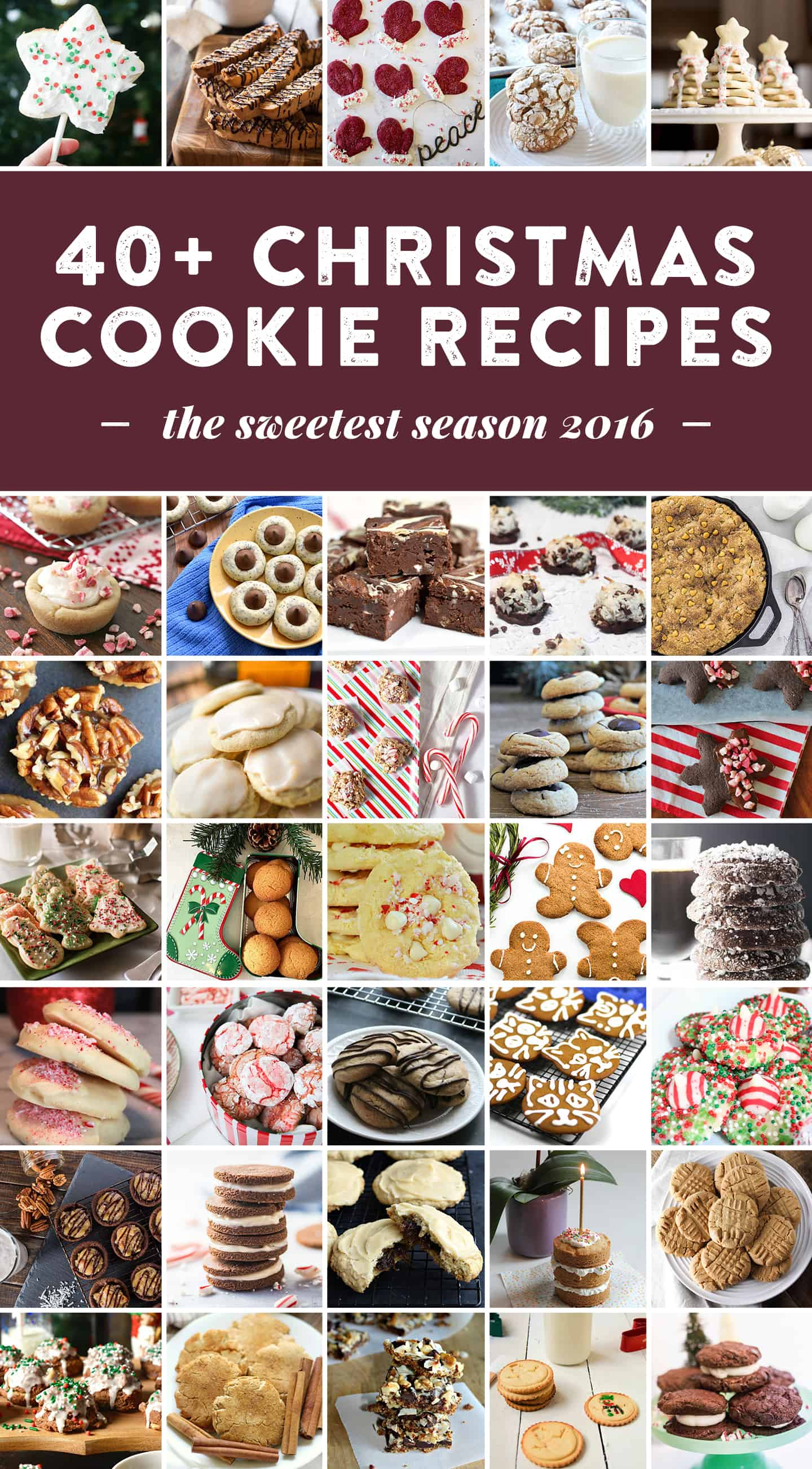40+ Christmas Cookie Recipes to celebrate the holidays. There's something for everyone's tastes and special diets. #sweetestseasoncookies (via feastandwest.com)