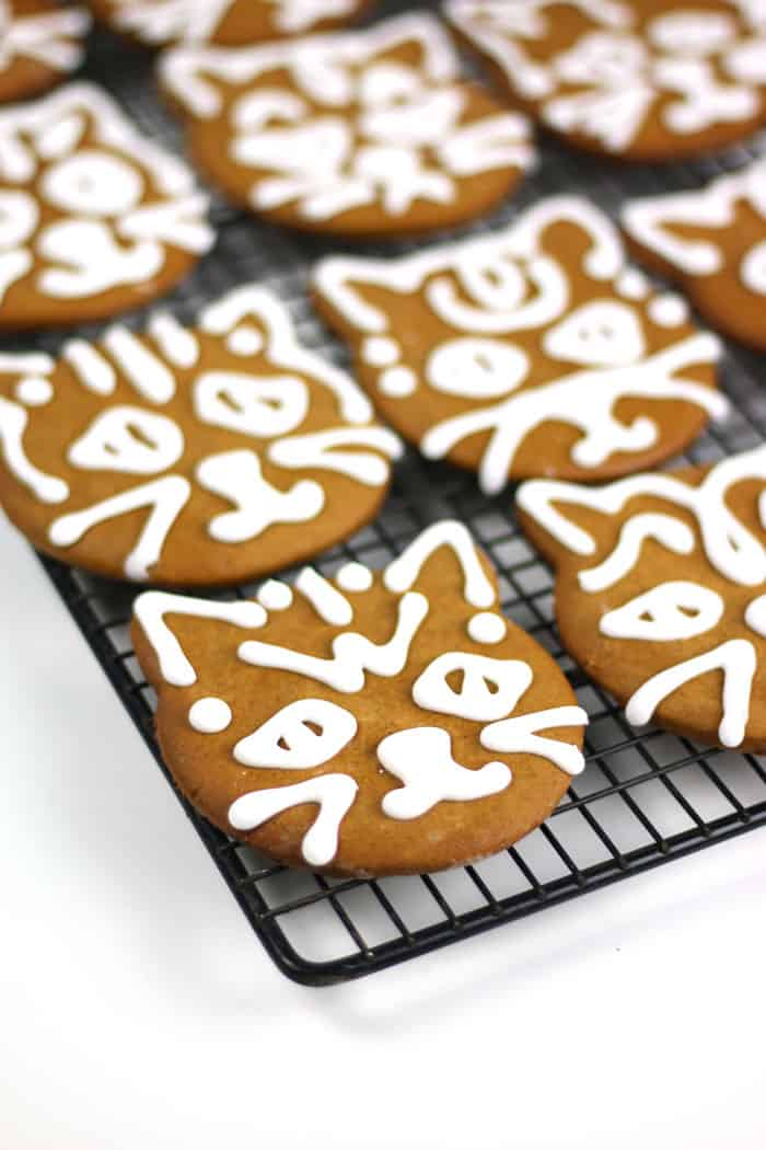 Cardamom Ginger Cat Gingerbread Cookies 187 Feast West