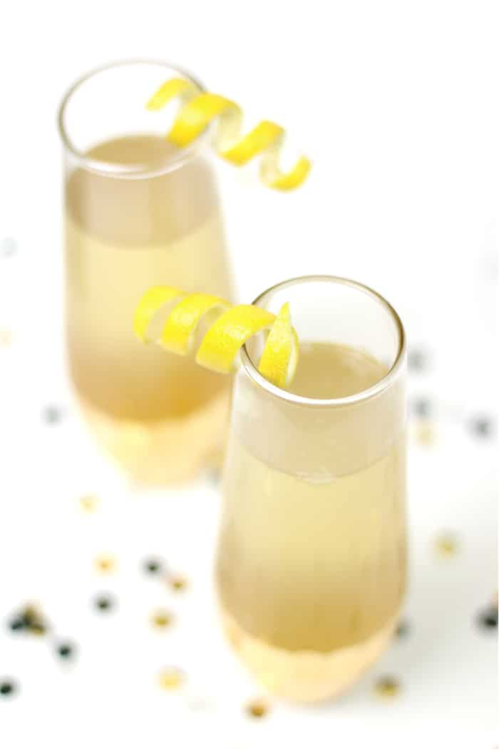 Say cheers to the new year with an Elderflower French 75! It's a floral take on the classic champagne cocktail with lemon, gin and St. Germain elderflower liqueur. (via feastandwest.com)