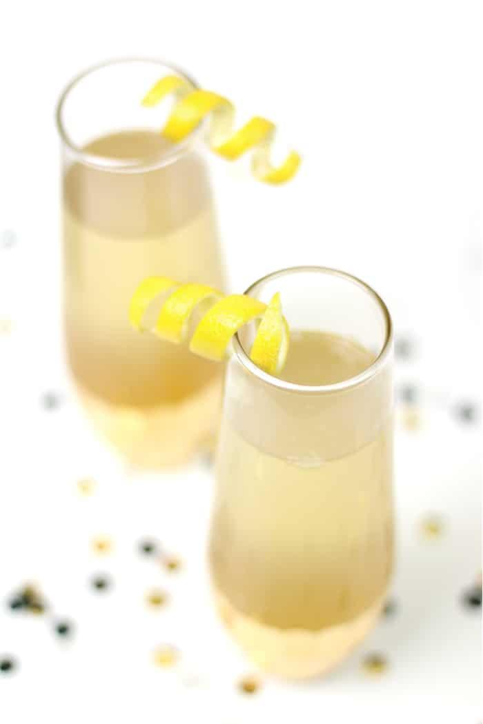 Elderflower French 75 Cocktail