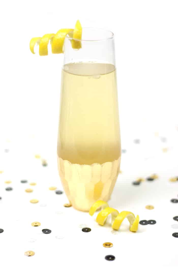 Say cheers to the new year with an Elderflower French 75! It's a ...