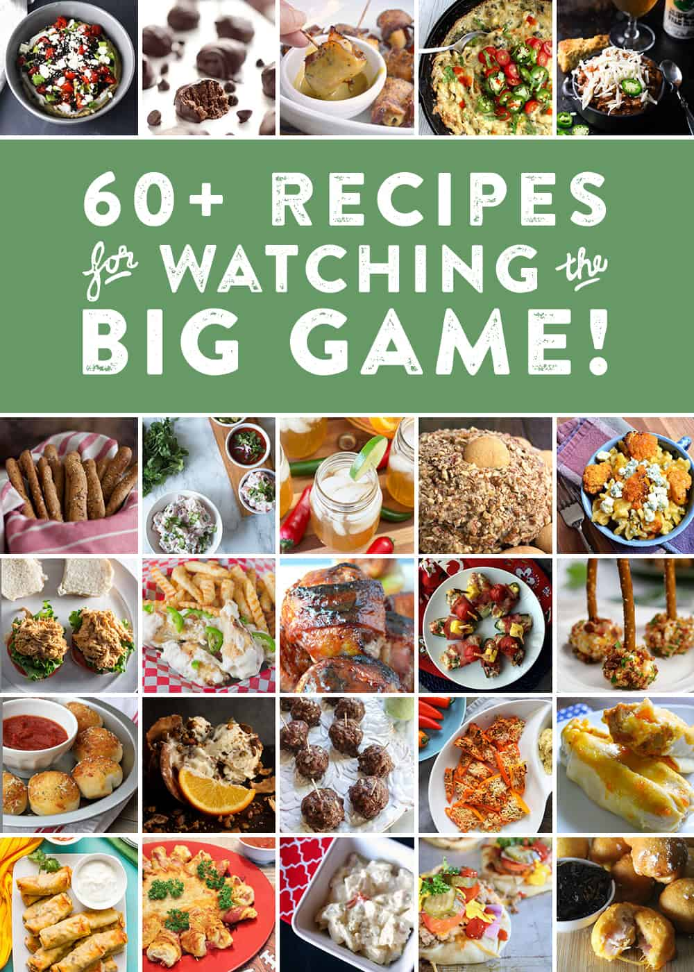 With the football season coming to a close, it's time to start thinking about Big Game parties and inevitably, the recipes you will make and bring to yours! In preparation, I've teamed up with my football blogger friends in one final collaboration to bring you some brilliant Big Game recipe ideas. We've made appetizers, entrees, desserts and even drinks. Prepare to be inspired! (via feastandwest.com)