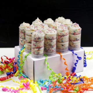 Confetti Cake Push Pops are guaranteed to bring back childhood memories. These fun, colorful and interactive vanilla cupcakes will bring a smile to anyone celebrating a birthday, no matter the age. The perfect birthday cake party treat for any 1990s kid or 'funfetti' fan! (via feastandwest.com)