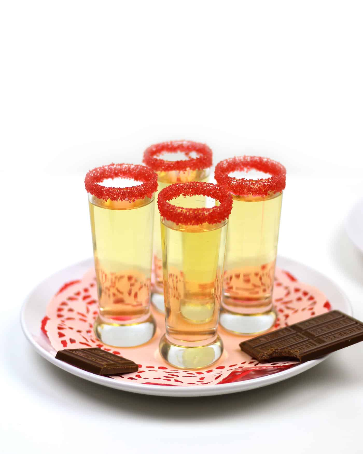 Oh yes! Chocolate Cake Shooters seriously taste just like chocolate cake! Hazelnut liqueur, vanilla vodka and lemon juice come together for a surprising flavor explosion. The perfect party treat for Valentine's Day, birthdays and more! (via feastandwest.com)