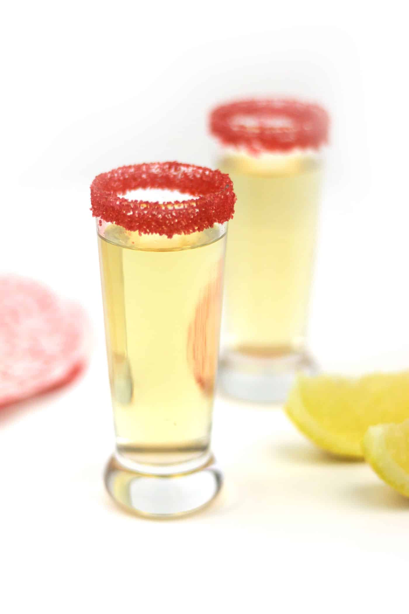 Chocolate Cake Shooters seriously taste just like chocolate cake! Hazelnut liqueur, vanilla vodka and lemon juice come together for a surprising flavor explosion. The perfect party treat for Valentine's Day, birthdays and more! (via feastandwest.com)