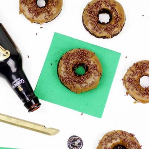 Top of the mornin' to you! Don't celebrate St. Patrick's Day without a dozen of these rich, flavorful Baked Chocolate Guinness Donuts with Irish Coffee Glaze. Lovely day for a Guinness! (via feastandwest.com)