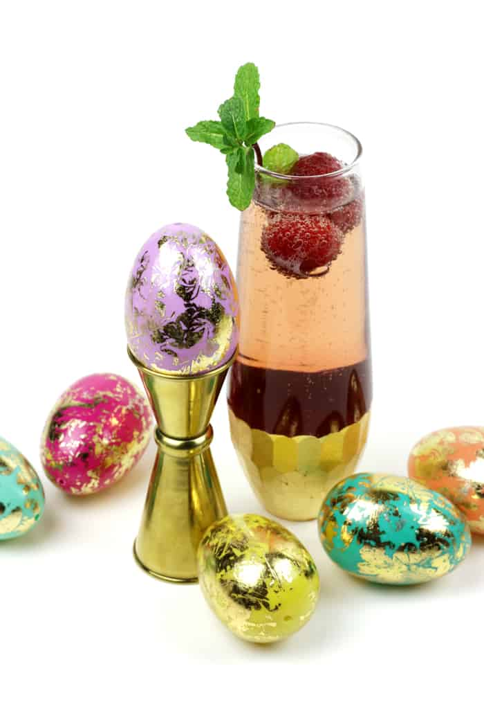 You don't have to hunt for the prettiest cocktail for Easter brunch, because I already found it. The Raspberry Mint Kir Royale is a sweet sparkler with all the fresh flavors of warmer weather. Enjoy it all spring and summer! (via feastandwest.com)
