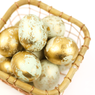 DIY Marbled Gold Easter Eggs