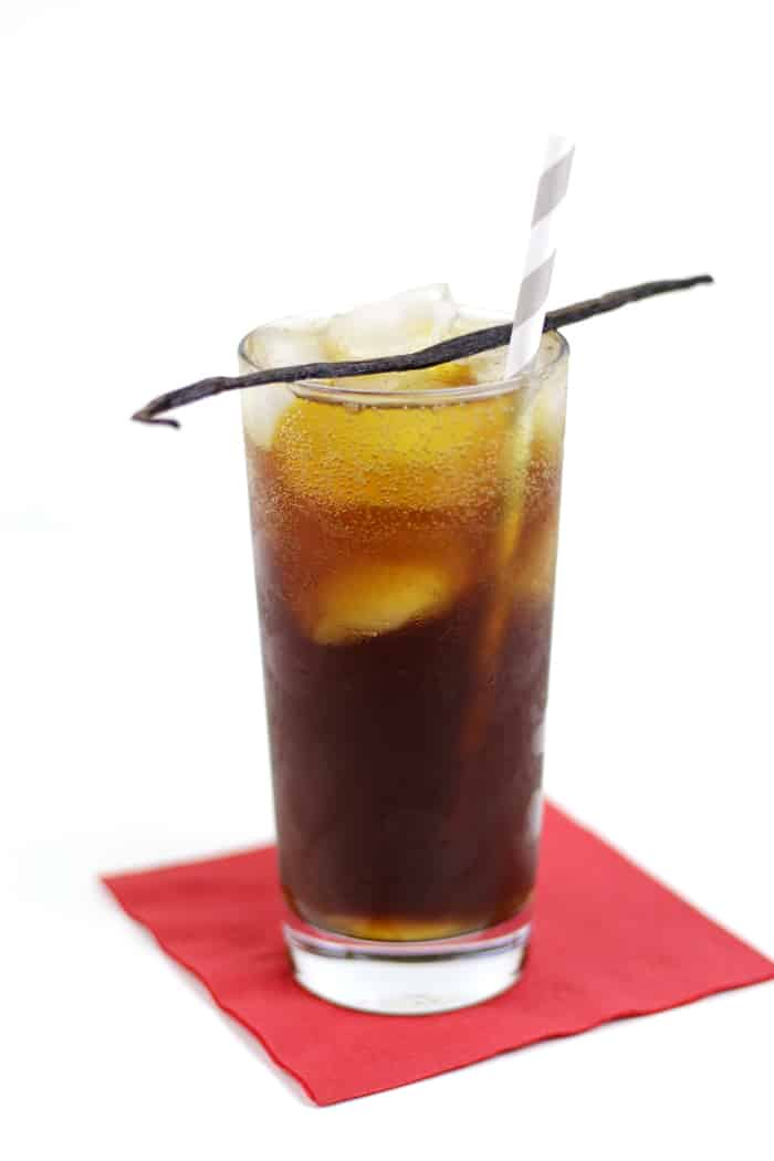 Coffee is always a treat! This Vanilla Bean Cold Brew Coffee Soda is no different. Try cold-brewed Folgers® Coffeehouse Blend with a homemade vanilla simple syrup and sparkling water for a refreshing beverage! AD #CoffeehouseBlend #CollectiveBias
