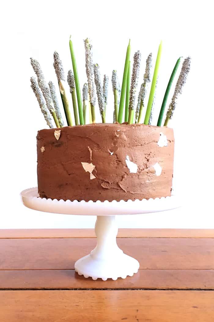 Pocky Birthday Cake (via feastandwest.com)