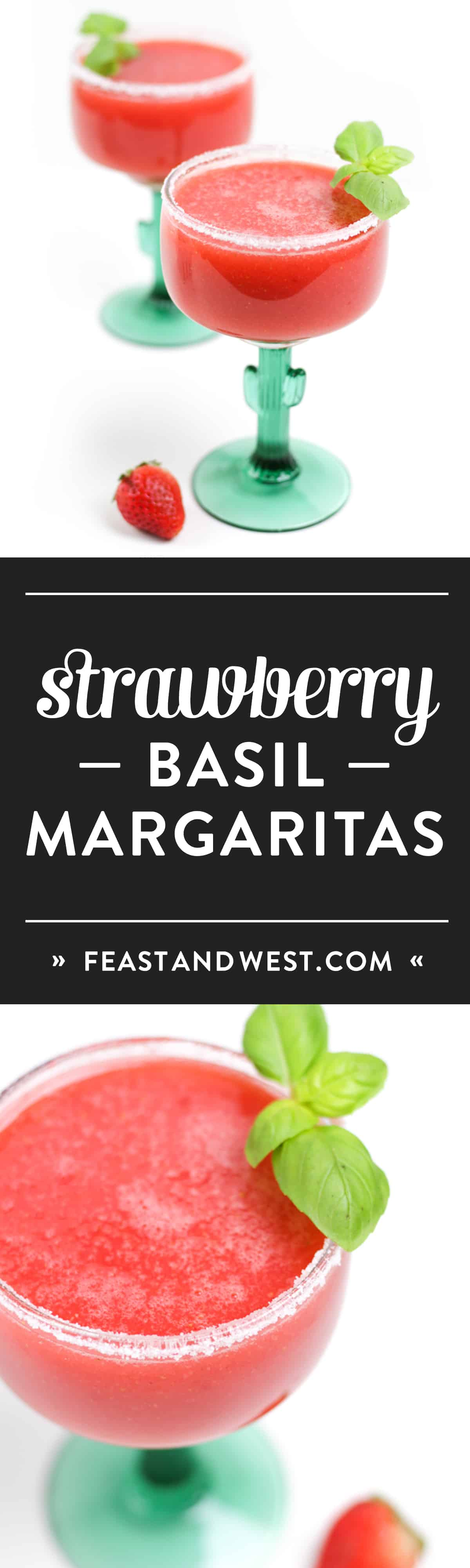 From taco night to girls' night, Strawberry Basil Margaritas are the freshest summer sippers around. With all the tastes of the farmers market, these tequila-based beauties are sure to be a fan favorite. (via feastandwest.com)